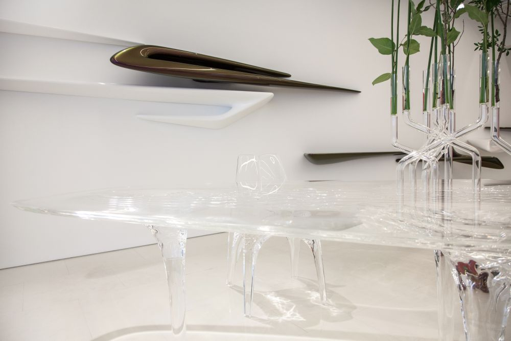 Table design from The Seamless Collection by Zaha Hadid Architects