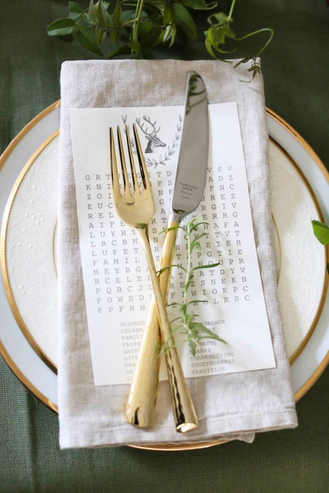 Thanksgiving napkin and place cards