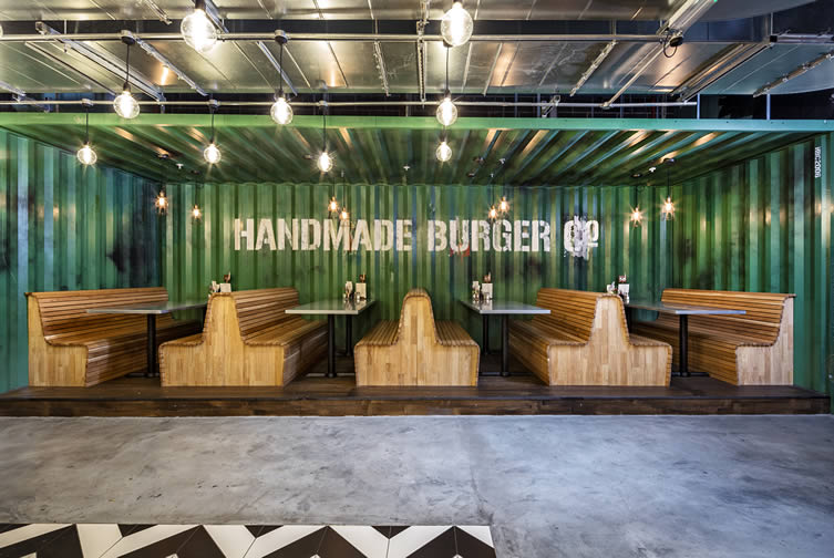 The Handmade Burger Co. by Brown Studio Interior Design