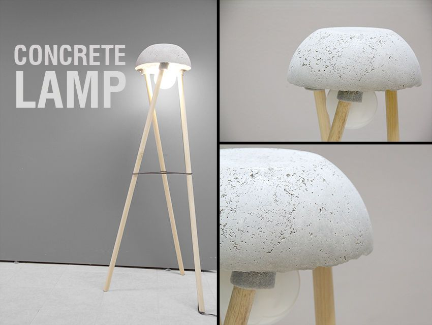 tripod floor concrete lamp top