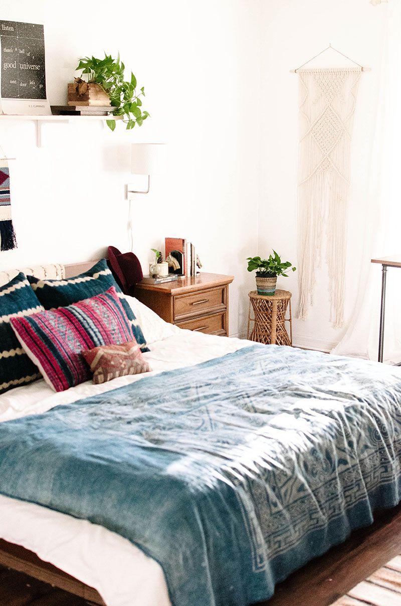 Bohemian bedroom interior design