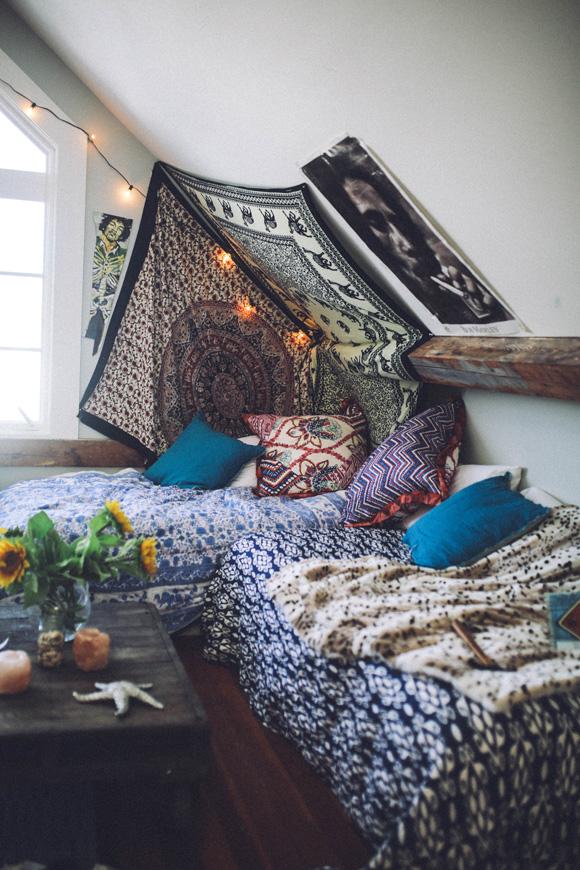 Boho bedroom nook