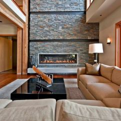 Contemporary Living Rooms With Fireplaces Grey Furniture Room Ideas Stacked Stone Fireplace Designs And The Decors Around Them
