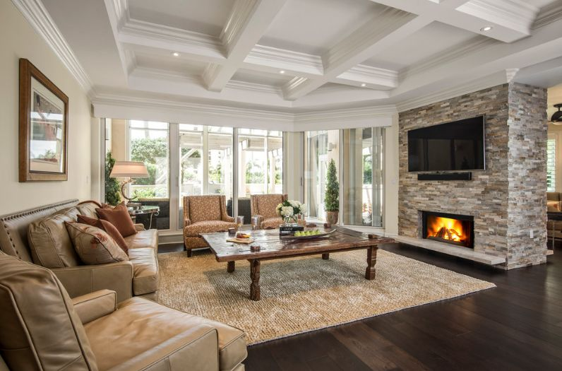 fireplace for living room interior design narrow stacked stone designs and the decors around them leather sofa