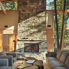 Pictures Of Living Rooms With Stone Fireplaces Room Decorations Stacked Fireplace Designs And The Decors Around Them Tall