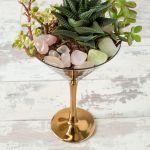 Thrifted Cocktail Glass Terrarium Diy