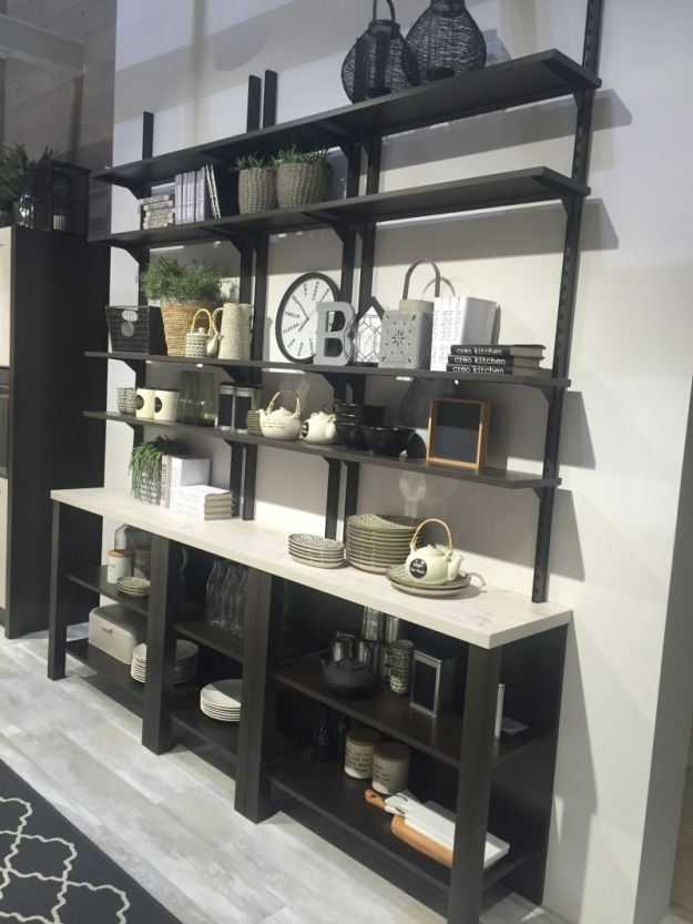 kitchen shelves - form and function perfectly combined