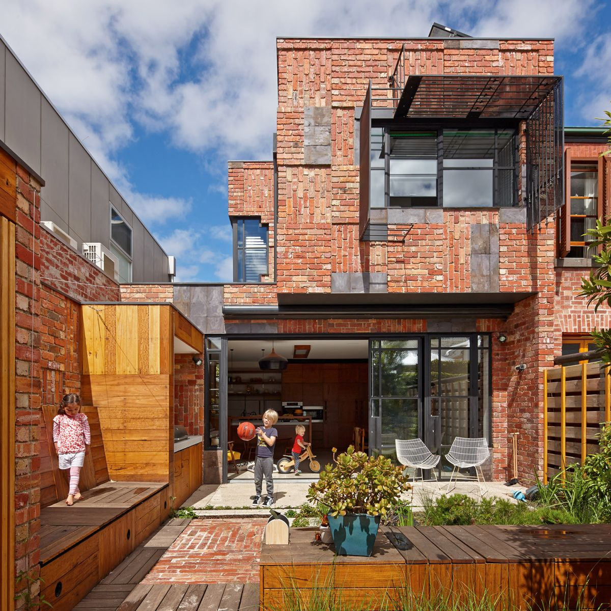 Best Kitchen Gallery: Brick Houses That Form A Bridge Between Past And Present of Modern Brick Homes  on rachelxblog.com