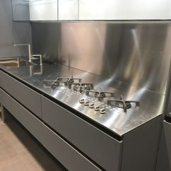 Stainless Kitchen Price Of Cabinets Steel Countertops Perfect For Hardworking Stylish Kitchens