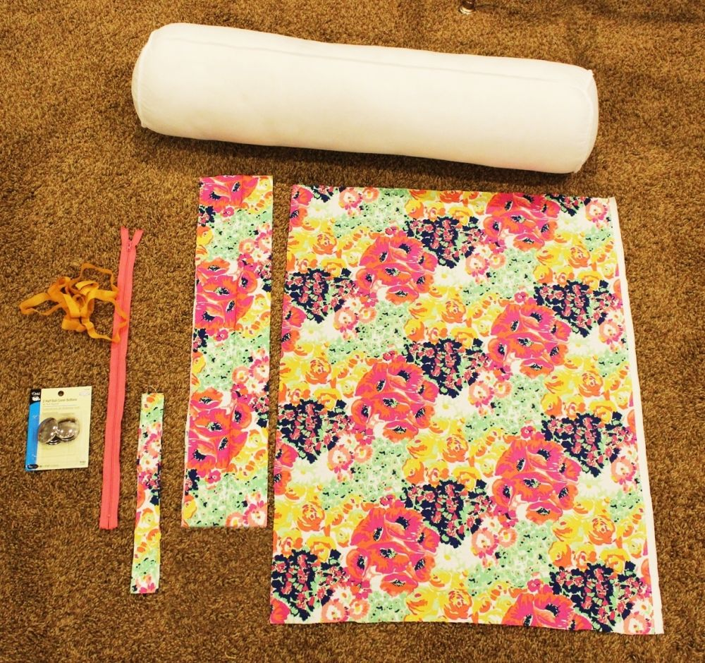 How To Make A Bolster Pillow Cover With Piping