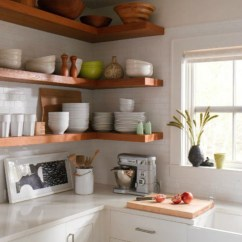 Kitchen Corner Shelf Backsplash Ideas For Small 15 Ways To Diy Creative Shelves