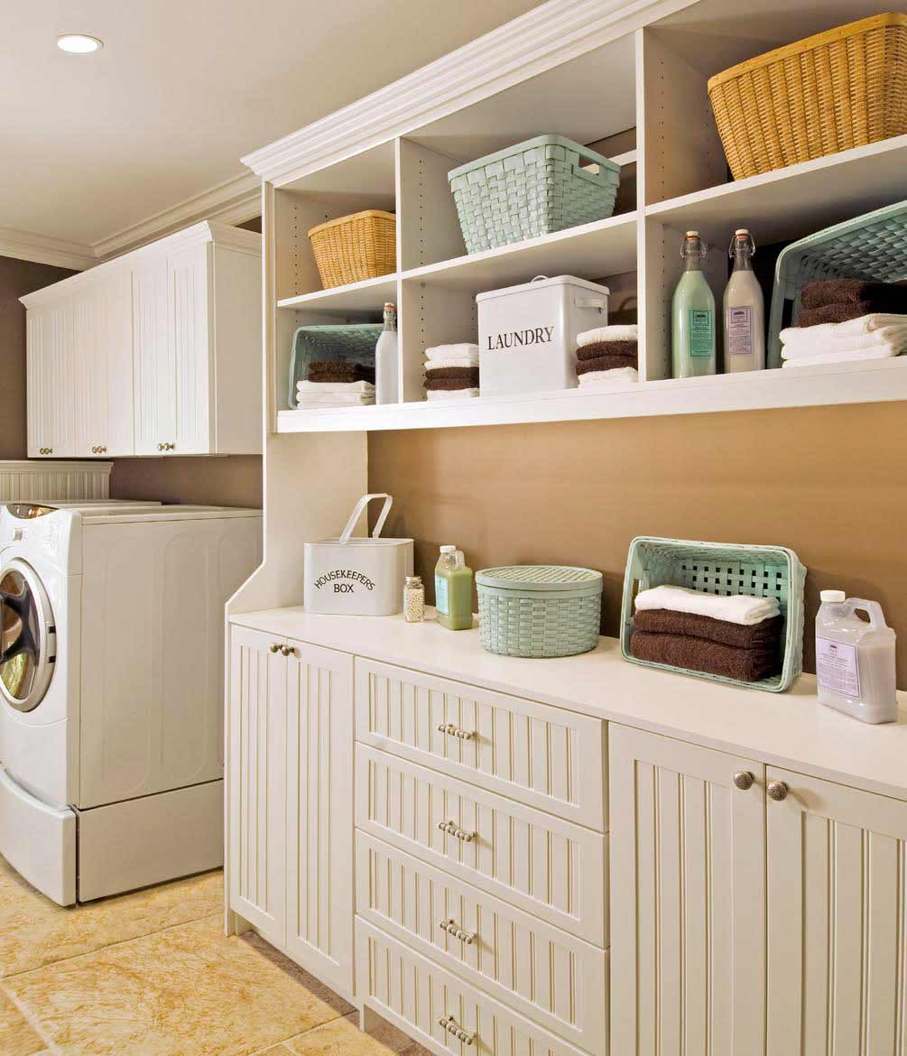 I used dollar tree items to create more space and get my small laundry room organized! 15 Ways to Organize Your Laundry Room