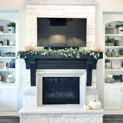 Living Room Mantel Tv Showcase Designs 21 Tips To Diy And Decorate Your Fireplace Shelf