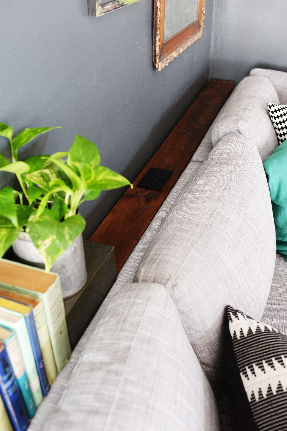 behind the sofa table rattan sleeper and loveseat diy narrow with outlet