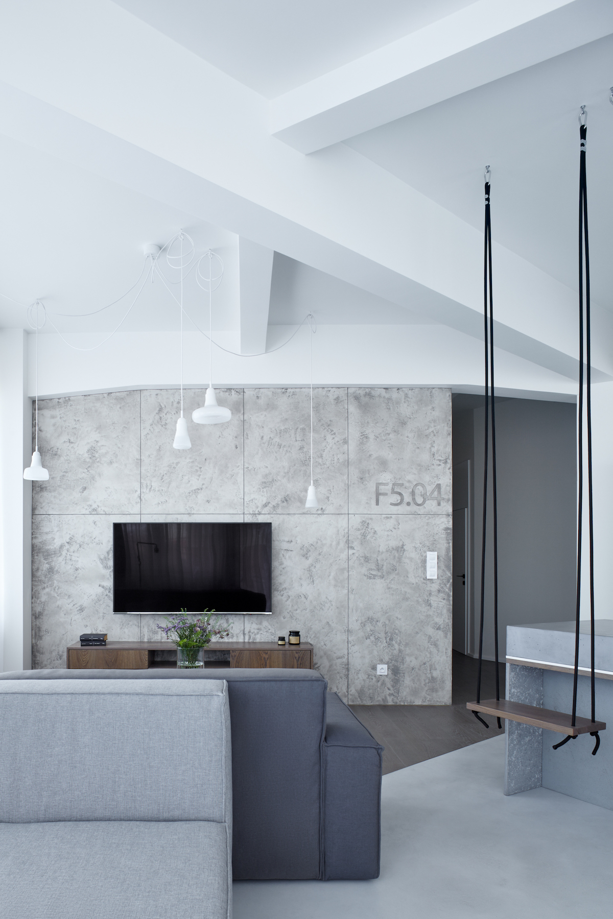Modern Apartment With Industrial Features And Relaxing Ambience ...