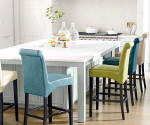 colorful kitchen chairs black glass cabinet doors 18 bar stools for your family after all the is gathering place of house here are