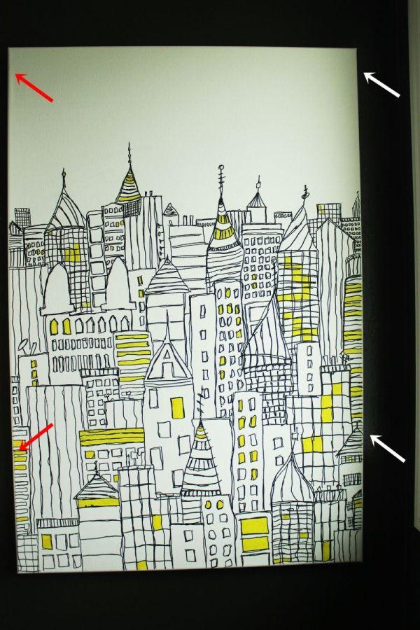 DIY Canvas Sharpie Art