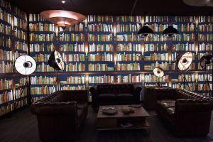 library fake books homedit living bookcase gemerkt