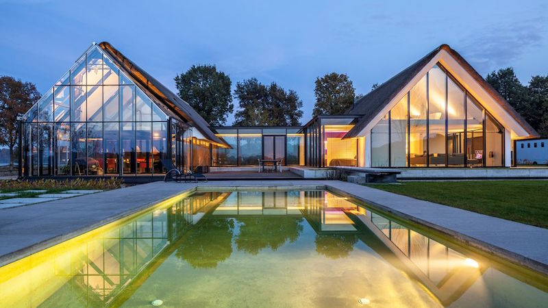 An HShaped Home With A GreenhouseLike Extension