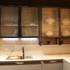 Kitchen Glass Cabinets Floor Cupboards Five Types Of And Their Secrets Course If You Re Not A Fan Transparency In Your Decor There Are Other To Choose From