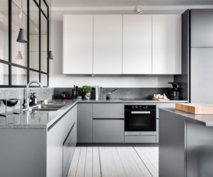 grey kitchen cabinets small square table modern gray beat monotony with style the same things that make seem cold and bland also allow it to be a very calming color one can help you achieve relaxing ambiance