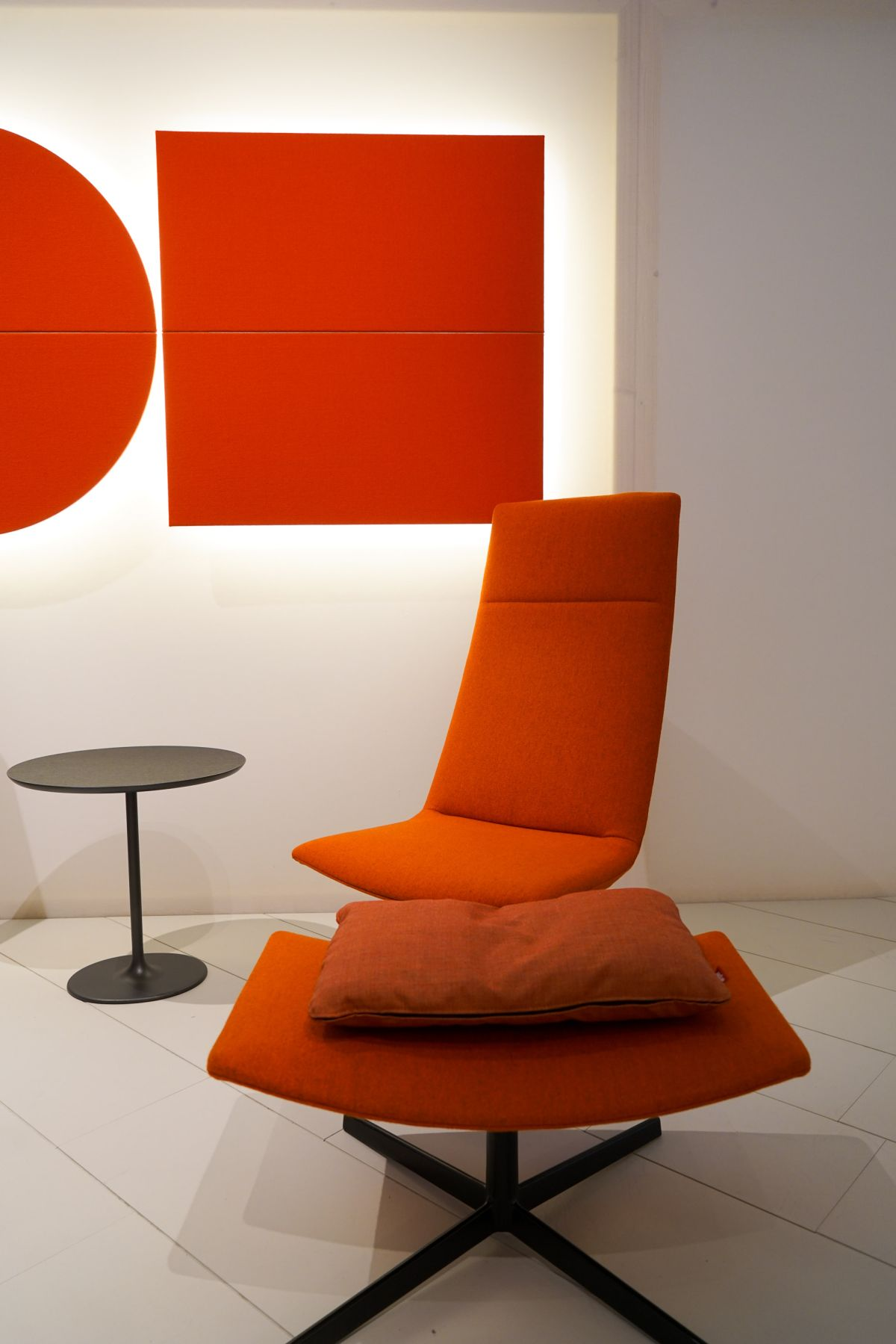 Reading Chair And Ottoman Orange Furniture For Bold And Cheerful Interior Decors