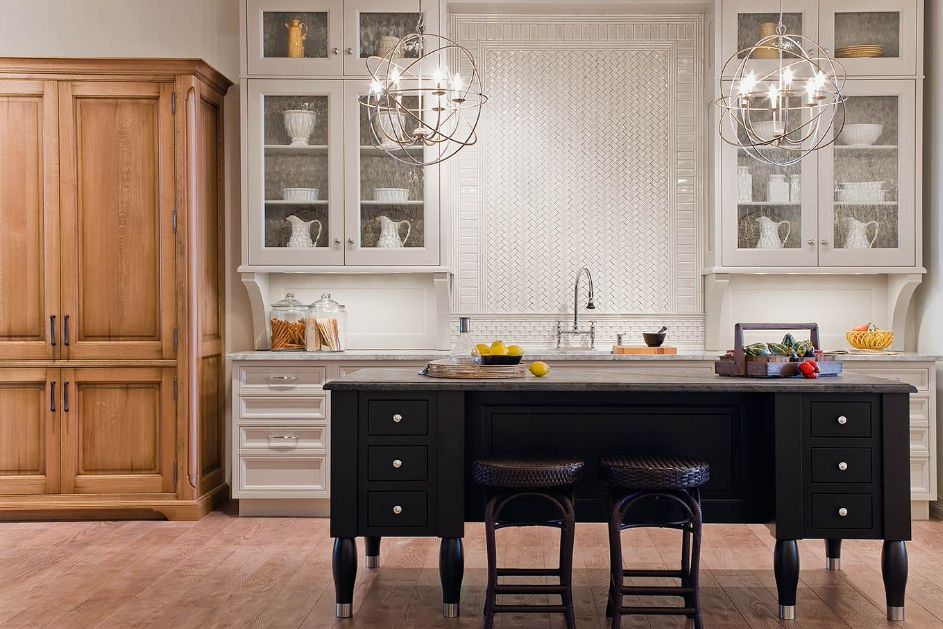 kitchen glass cabinets table base five types of and their secrets view in gallery