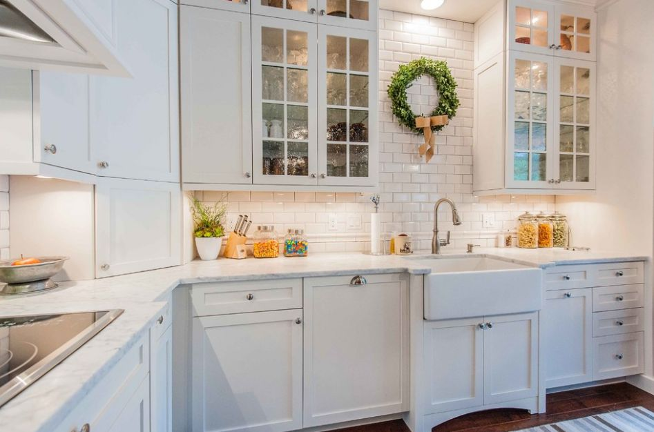 white kitchen cabinets glass doors backsplashes for kitchens five types of and their secrets view in gallery seeded cabinet