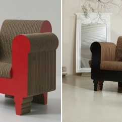 Small Comfortable Chair How Do You Cane A Cardboard Furniture - Surprisingly Strong And Unexpectedly Stylish