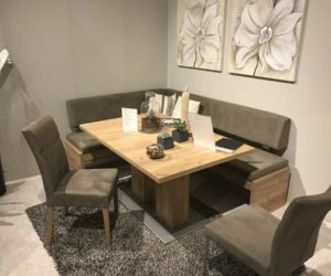 kitchen table and corner bench small white island ways of integrating tables in your decor how a with seating can totally complete home space efficiency at its best