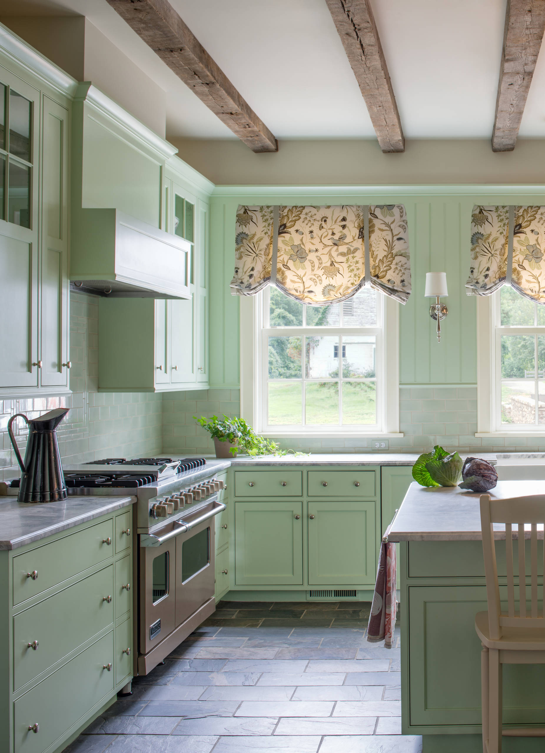 green kitchen cabinets islands with breakfast bar 100 beautiful kitchens to inspire your makeover