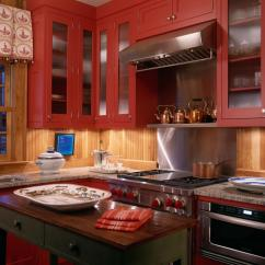 Red Kitchen Cabinets Island Chandeliers 100 Beautiful Kitchens To Inspire Your Makeover