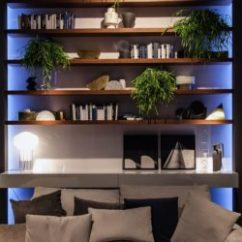 Gray White And Yellow Living Room Ideas Tiles 20 Ways To Incorporate Wall-mounted Tvs Shelves Into ...