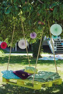 Pallet Swing Ideas - Perfect Summer Diy