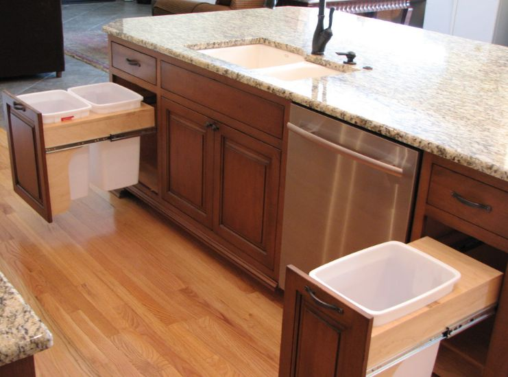kitchen trash cart with granite top modern can ideas for good waste management view in gallery