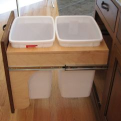 Kitchen Pull Out Trash Can Who Makes The Best Cabinets Modern Ideas For Good Waste Management
