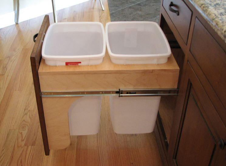 kitchen trash can pull out extractor fan modern ideas for good waste management view in gallery