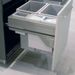 Kitchen Pull Out Trash Can Black Stainless Steel Sink Modern Ideas For Good Waste Management