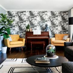 Black And White Wallpaper Ideas For Living Room Trendy Wallpapers To Help You Finish Decorating View In Gallery