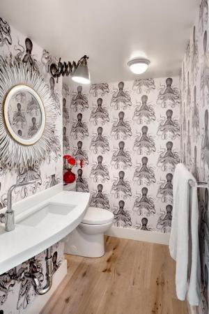 bold modern bathroom space decorating octopus hgtv wallpapers bath homedit haro levy