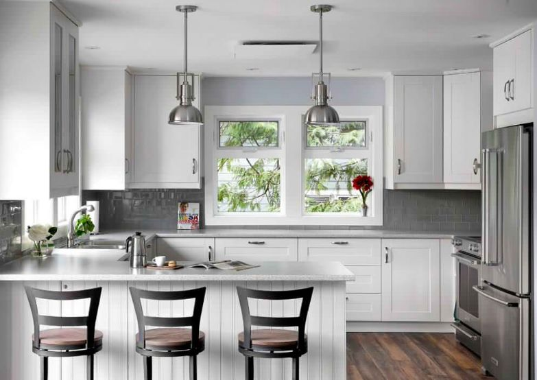 gray subway tile kitchen island for small tiles the fascinating story of their versatility in backsplashes go well with stainless steel appliances