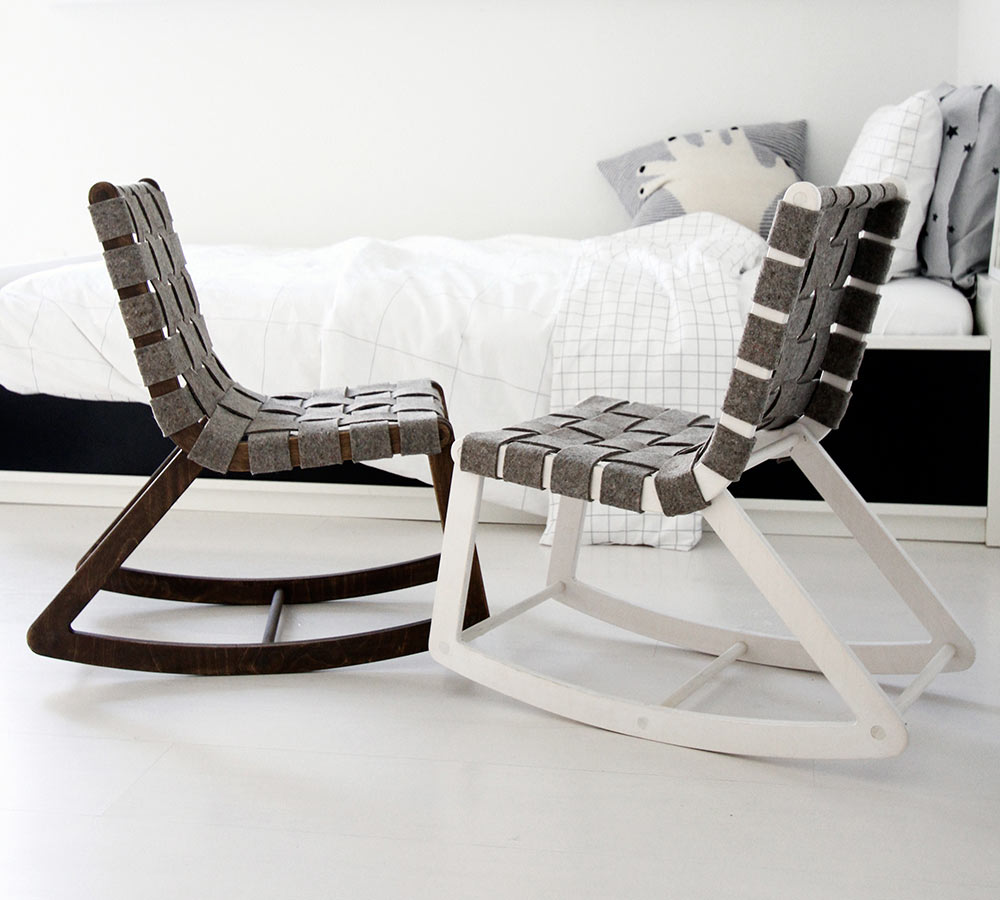 kids upholstered rocking chair herman miller sayl modern chairs - where innovation meets tradition