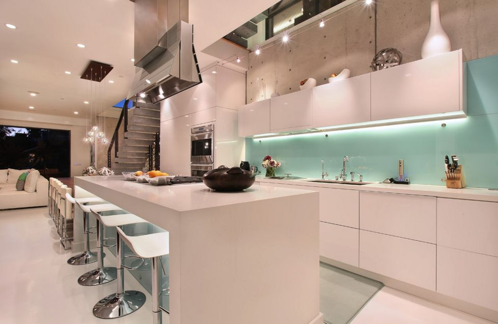 glass kitchen backsplash yellow pine cabinets cool ways to update a with view in gallery