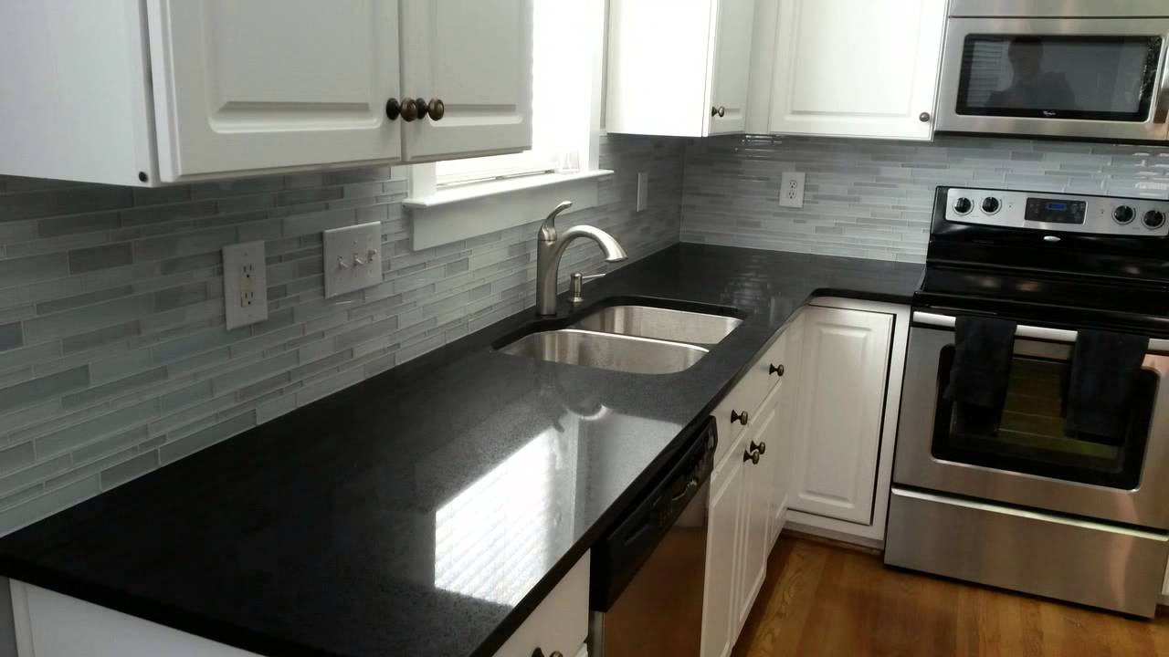 quartz kitchen countertops sink hose 15 stunning countertop colors to gather inspiration from 5 midnight black