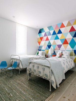 homedit rainbow bedrooms kid wallpapers geo