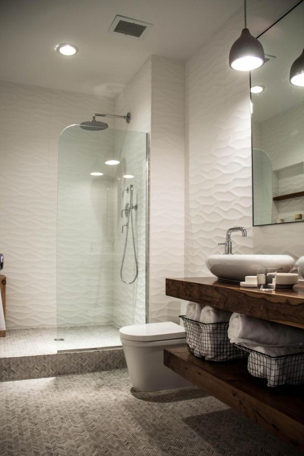 Walk-In Shower Small Bathroom Tile Design Ideas