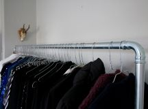 Chic and Practical DIY Clothes Racks That Put Your Wardrobe On Display images 3
