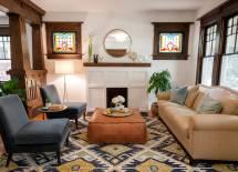 Modern Craftsman Style Living Room