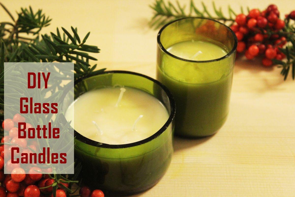 Marvelous! DIY Christmas Gift Idea: Glass Bottle Candle