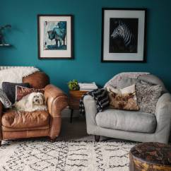 Teal Decorating Ideas For Living Room Couch Sets 10 Rooms That Boast A Color View In Gallery